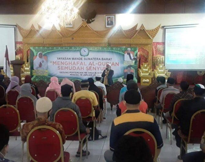 Sekitar 100 orang Guru Tahfidz Binaan Hj. Nevi Zuairina Melakukan Pelatihan Mewujudkan Rumah Tahfidz Tiap Kecamatan