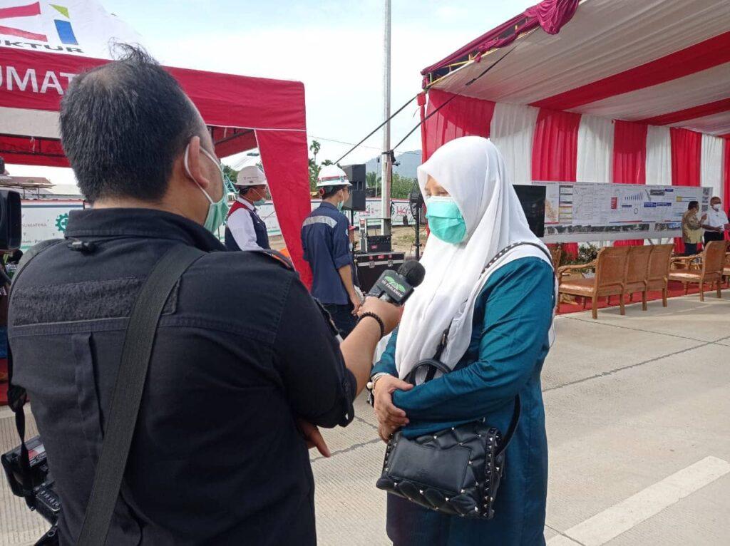 Pembangunan Proyek Infrastruktur Jalan Tol Padang-Sicincin, Nevi Zuairina Minta Penempatan Pelaku UMKM pada Rest Area Diprioritaskan